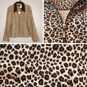 Melissa Harper animal camouflage blazer jacket